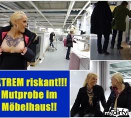 EXTREM riskant!!! Mutprobe im Möbelhaus!!