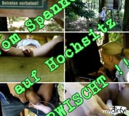 Vom Spanner auf Hochsitz ERWISCHT !!!
