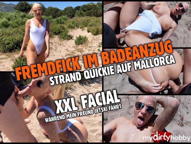FREMDFICK im Badeanzug | Strand Quickie mit Mega Facial
