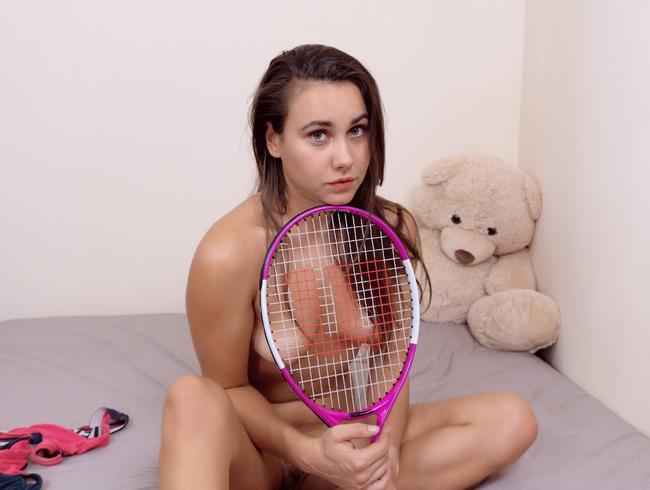 Porno Tennisschläger Junges Mädchen