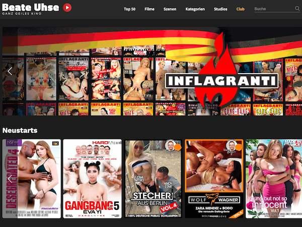 Bei Beate Uhse kannst du Pornofilme renommierter Studios streamen