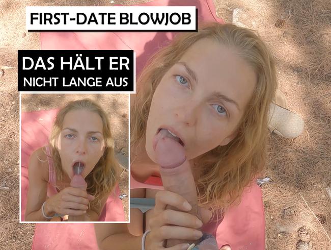 Tinder-Date Blowjob - das hält er nicht lange aus! Outdoor